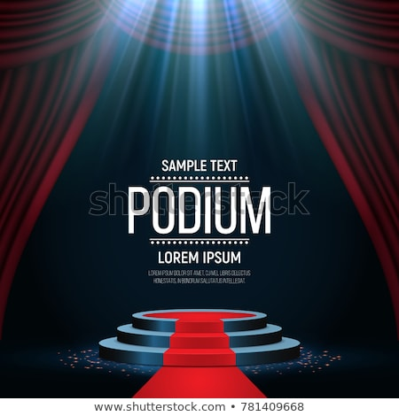empty stage podium with spotlights in blank studio room for presentation stock photo © vectomart