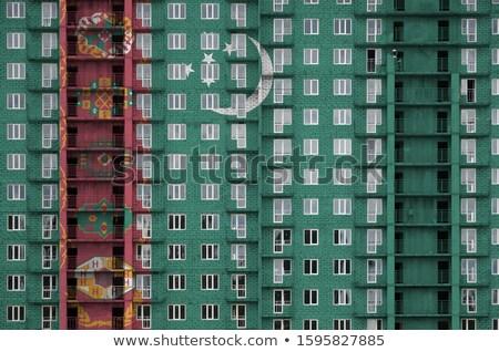 house with flag of turkmenistan stock photo © mikhailmishchenko