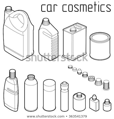Cosmetische schets isometrische iconen eps 10 Stockfoto © netkov1