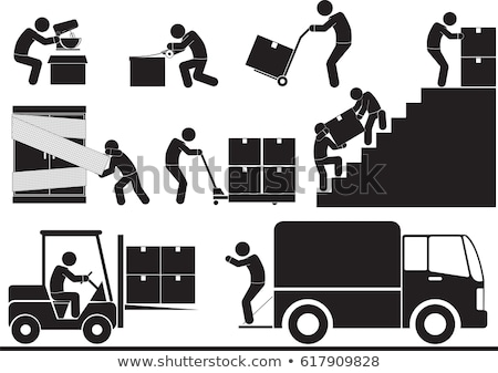 vector set of forklift truck stock photo © olllikeballoon