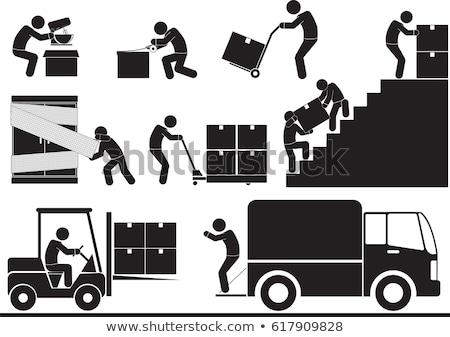 vector set of forklift truck Stock photo © olllikeballoon
