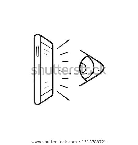 beschikbaarheid · schets · doodle · icon · smartphone - stockfoto © rastudio