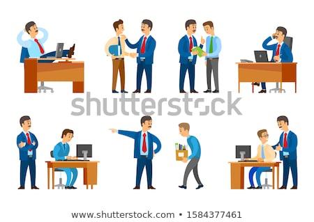 sollicitatiegesprek · business · cv · illustratie · eenvoudige - stockfoto © robuart