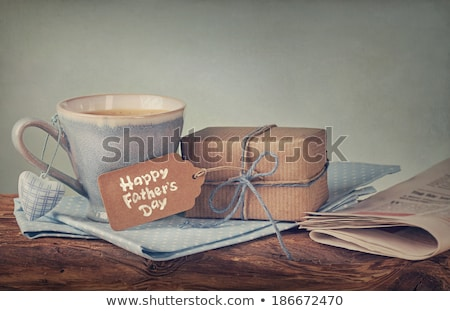 cups of coffee and text happy fathers day Stock photo © nito