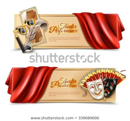 Set of Horizontal Banners about theater Stock photo © netkov1