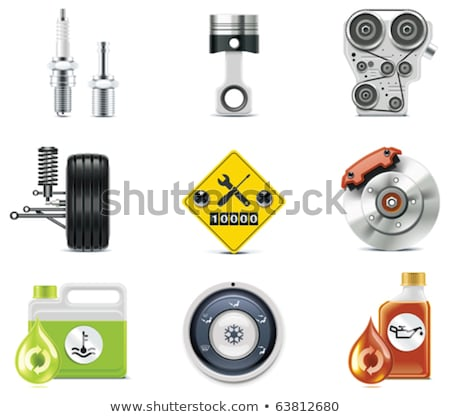 vetor · motor · carro · isolado · branco · chave - foto stock © dashadima