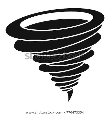 Tornado Twister Cyclone or Hurricane Icon Concept Stock photo © Krisdog
