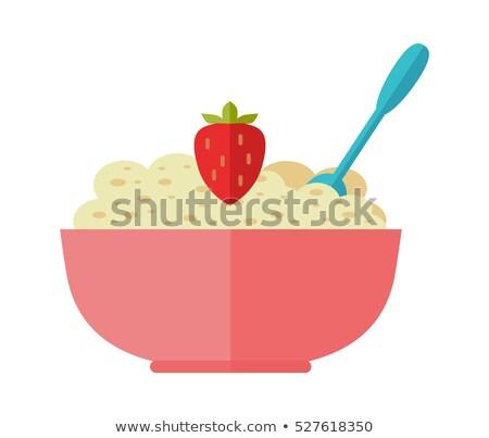 organic food   flat design style colorful illustration stock photo © decorwithme