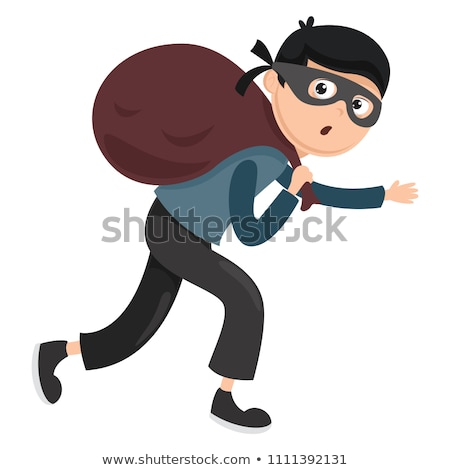 vector of thief Stock photo © olllikeballoon