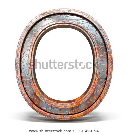Rozsdás fém betűtípus levél 3D 3d render Stock fotó © djmilic