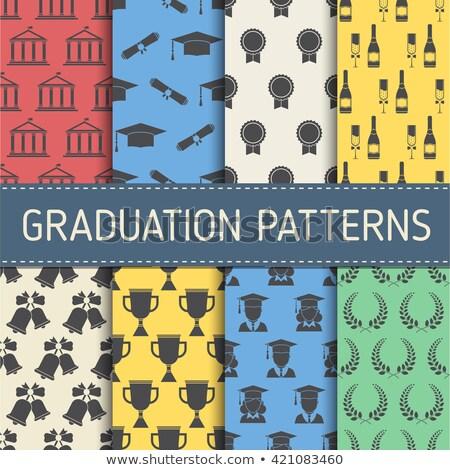 Graduation elements set pattern Stock photo © netkov1