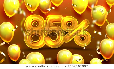 Eighty Five Percent Or 85 Benefit Offer Vector Stock photo © pikepicture