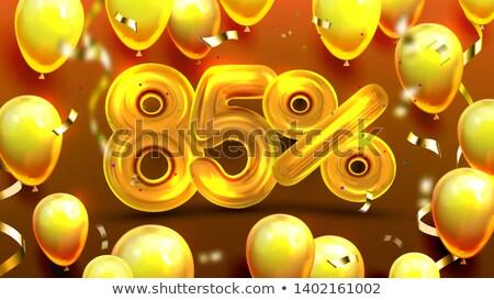 восемьдесят пять процент польза предлагать вектора Сток-фото © pikepicture
