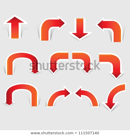 Red Arrow Pointing Downward And Rising Set Vector Stock photo © pikepicture