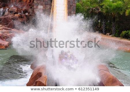 Kinderen waterglijbaan afbeelding kinderen kind kunst Stockfoto © clairev