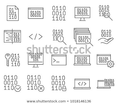 Kodowanie line ikona wektora obraz eps Zdjęcia stock © smoki