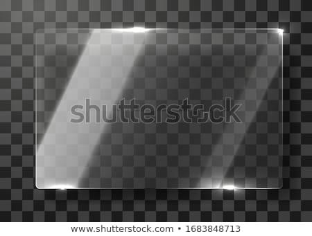 Vízszintes átlátszó üveg szalag sablon fából készült Stock fotó © romvo