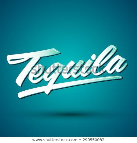 Tradicional mexicano tequila beber botella vector Foto stock © pikepicture