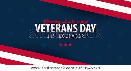 Katona hazafias nap terv amerikai zászló piros Stock fotó © Krisdog