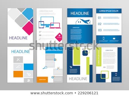 Publication couvrir page design fond Photo stock © SArts