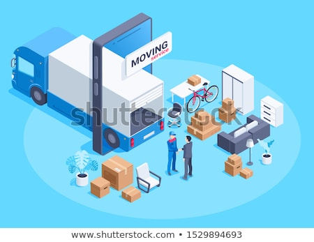 Moving House, Transporting Furniture Vector Image Stock photo © robuart