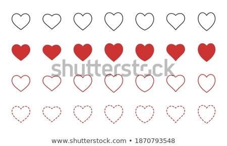Sevmek simgeler yalıtılmış beyaz doldurma pastel Stok fotoğraf © ukasz_hampel