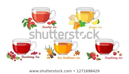 kleurrijk · hot · zee · thee · gember · honing - stockfoto © illia