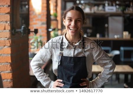 Mooie vrouwelijke manager permanente hotel vrouw Stockfoto © wavebreak_media
