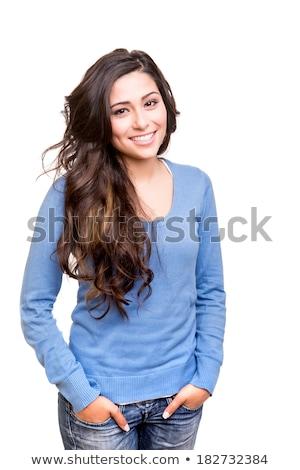 Moda veja belo jovem adolescente branco Foto stock © Lopolo
