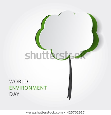 Environment Day card of green energy concept Stock photo © cienpies
