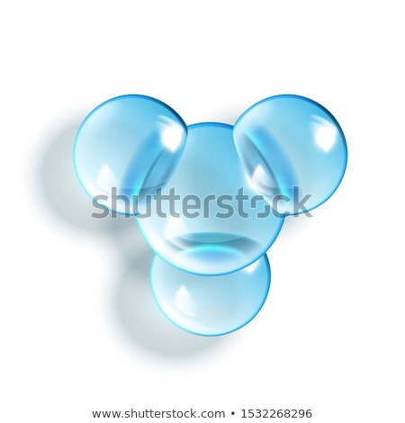 2so3 chemical glass molecule glossy model vector stock photo © pikepicture