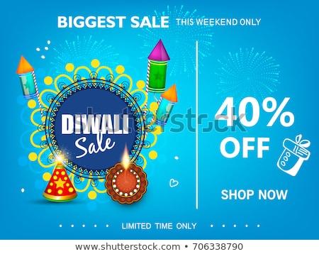 creative happy diwali sale banner with colorful diya stock photo © sarts