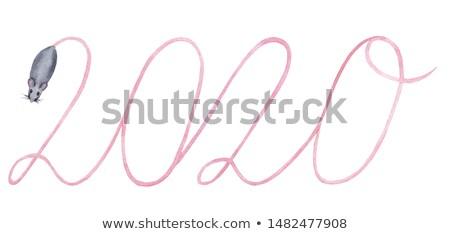 Rosa acquerello silhouette ratto cute simbolo Foto d'archivio © Artspace
