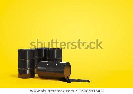 Óleo · barril · isolado · branco · 3d · render · metal - foto stock © djmilic