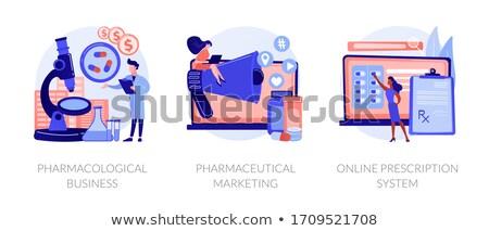 Affaires personnes laboratoire produire Photo stock © RAStudio