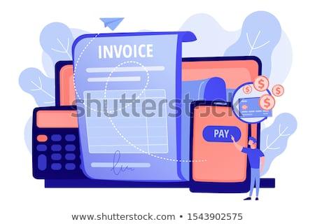 Fizetés pénz kölcsön szerződés alkalmazás pénzügyek Stock fotó © RAStudio