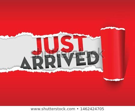 新しい 到着 紙 バナー スクロール 赤 ストックフォト © -TAlex-