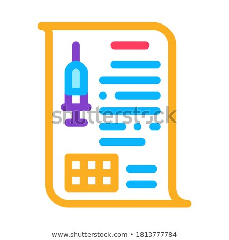 Injectie icon vector schets illustratie Stockfoto © pikepicture