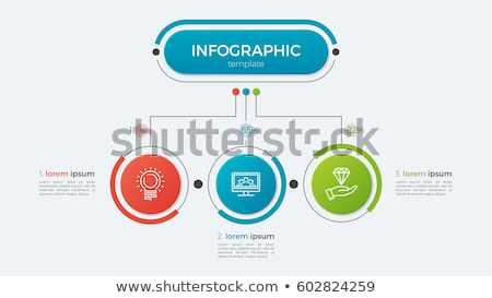 three steps modern business infographic template design Stock photo © SArts
