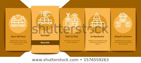 Car Theft Onboarding Elements Icons Set Vector Stock photo © pikepicture