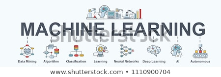Deep Learning Concept Icons Stock photo © Anna_leni