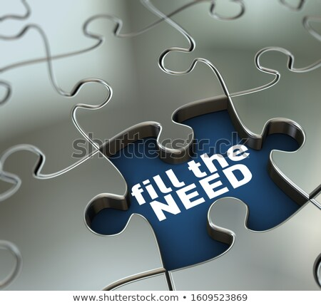 3d missing puzzle piece fill the need Stock photo © nasirkhan