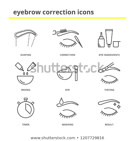 Plucking Hair Icon Vector Outline Illustration Stock photo © pikepicture