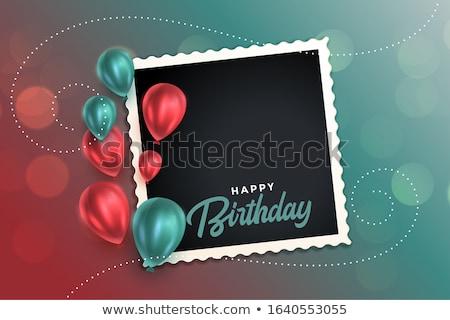 Güzel mutlu yıllar kart balonlar çocuklar Stok fotoğraf © SArts
