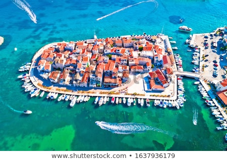 Tribunj old island town and archipelago of central Dalmatia aeri Stock photo © xbrchx