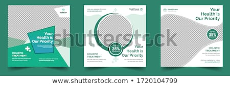 Medical doctor square banner Stock photo © -TAlex-