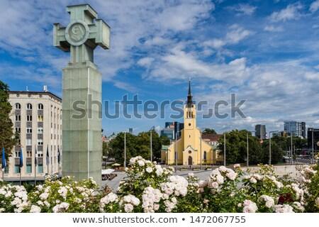 Kerk Estland stijl hart Tallinn stad Stockfoto © borisb17