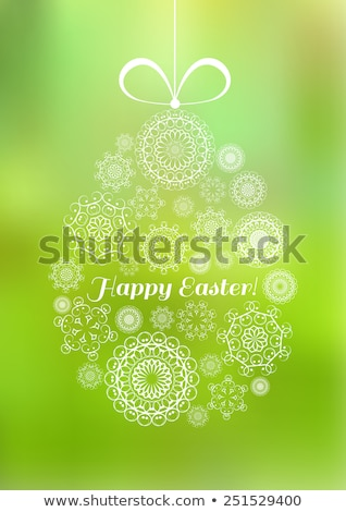 Пасха яйцо форма цветы религиозных Сток-фото © LittleCuckoo
