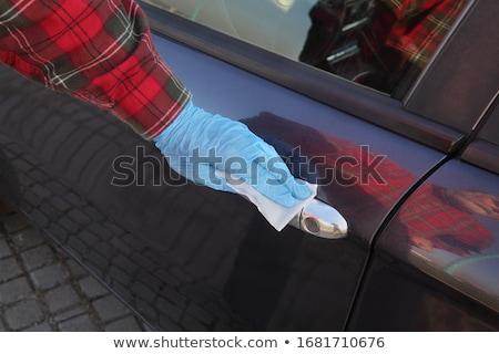 Driver pulizia auto gestire antibatterico soluzione Foto d'archivio © simazoran