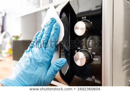 человека микроволновая печь печи обрабатывать вирус инфекция Сток-фото © AndreyPopov